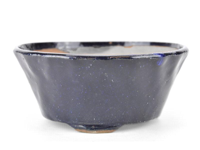 Ronde blauwe Bonsai bonsai pot - 119 x 119 x 50 mm
