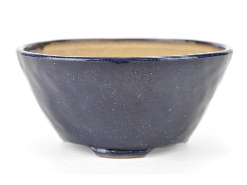 Ronde blauwe Bonsai bonsai pot - 125 x 125 x 60 mm
