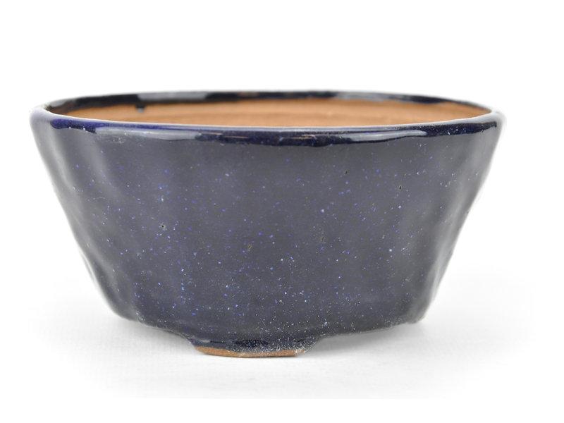 Ronde blauwe Bonsai bonsai pot - 112 x 112 x 55 mm