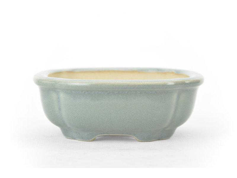 Vierkante grijsblauwe bonsaipot - 110 x 110 x 40 mm