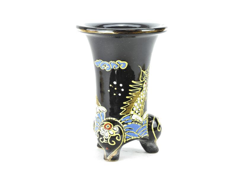 Zwarte fukiran pot - 161 x 161 x 23 mm