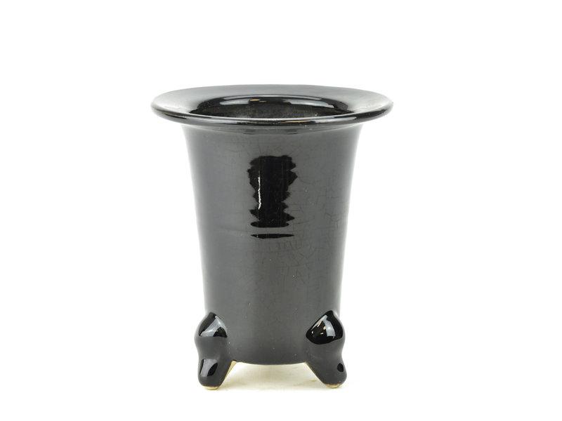 Zwarte fukiran pot - 130 x 130 x 155 mm