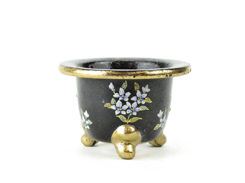 Zwarte fukiran pot - 107 x 107 x 75 mm