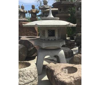 Farol japonés de piedra Kaku Yukimi Gata Ishidōrō 107 cm