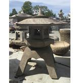 Japanese Stone Lantern Kaku Yukimi Gata Ishidōrō 105 cm