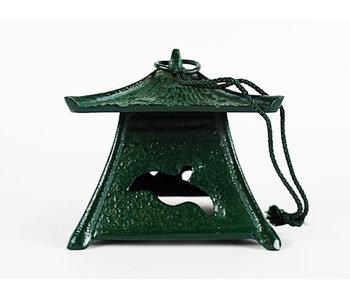 Japanese Metal Lantern Midori no Iruka Tsuridōrō 9 cm