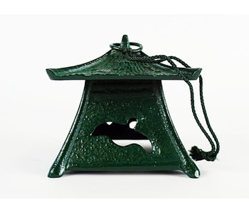 Japanse metalen lantaarn Midori no Iruka Tsuridōrō 9 cm