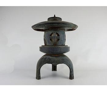 Japanse Antieke Metalen Lantaarn Maru Yukimi Gata 51 cm