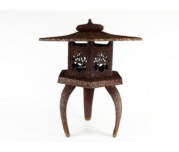 Japanse Antieke Metalen Lantaarn Yukimi Gata 60 cm