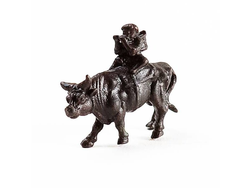 Bull with rider