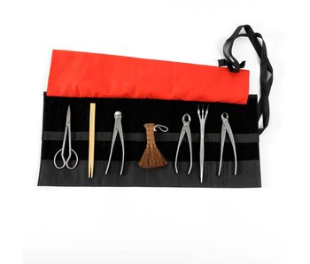 8 piece bonsai tool set stainless steel, S/M (~180 mm)