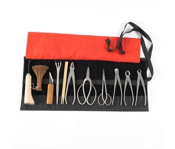 Juego de herramientas para bonsai de 12 piezas de acero inoxidable, S / M (~ 180 mm)
