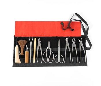Juego de herramientas para bonsai de 12 piezas de acero inoxidable, M / L (~ 210 mm)