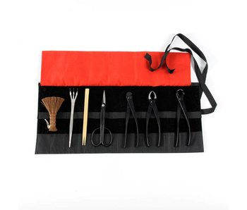 8 piece bonsai tool set steel , M/L (~210 mm)