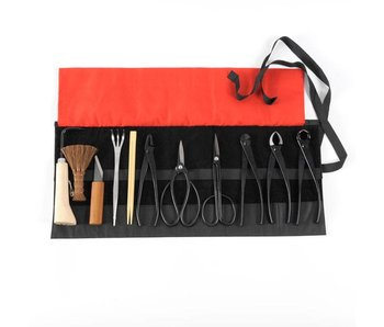 12 piece bonsai tool set steel , M/L (~210 mm)