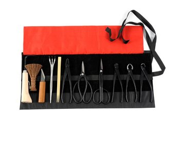 12 piece bonsai tool set steel , S/M (~180 mm)