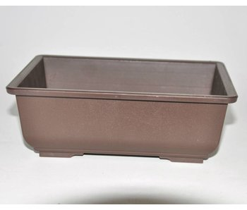 Plastic bonsai pot brown 19,5 cm