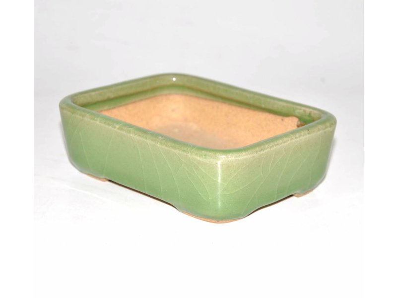 Bonsai pot groene 14 cm Hattori Tokoname