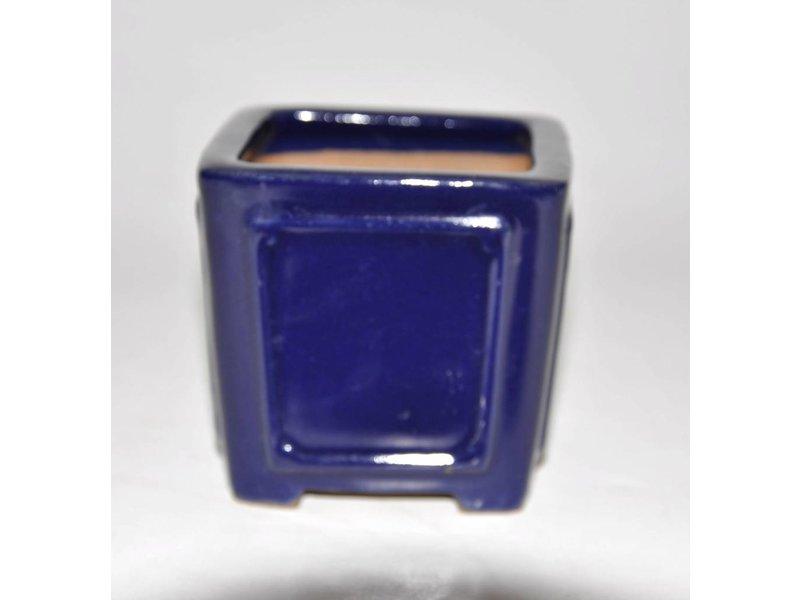 Bonsai pot blauwe 9 cm Shibakatso