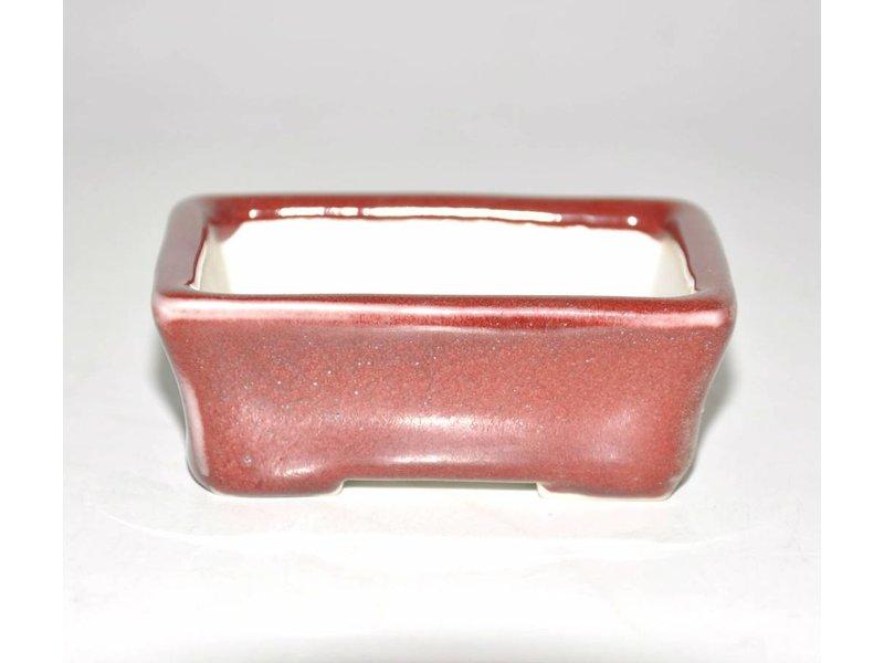Bonsai pot rood 8 cm