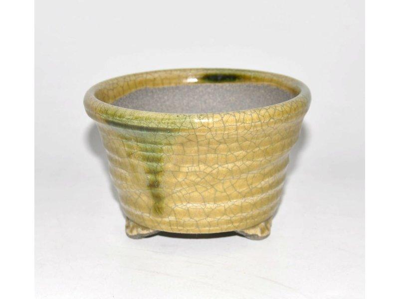 Bonsai pot gele 12,5 cm