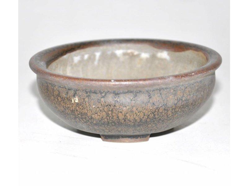 Bruine ronde pot, 10 cm