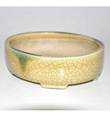 Oval yellow pot 16 cm