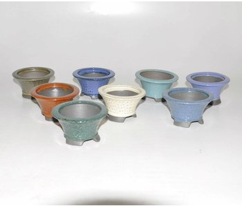 Set of eight pots