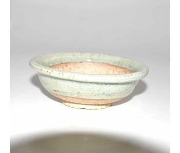 Bonsai pot blue grey 9 cm Seto Yaki