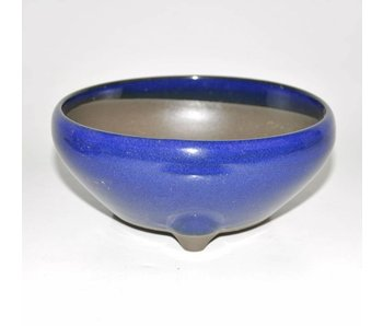 Bonsai pot blue 15 cm Seto Yaki