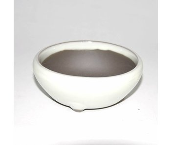 Bonsai pot white 15 cm Seto Yaki
