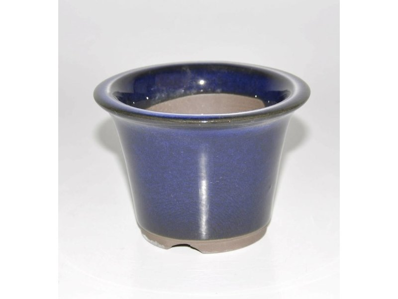 Bonsai pot blu 9,5 cm Seto Yaki