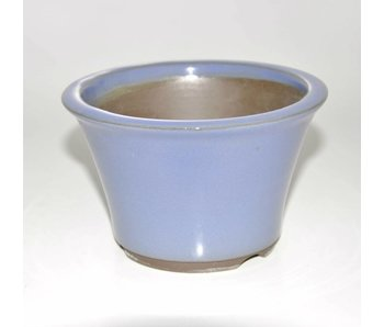 Bonsai pot light blue 12,5 cm Seto Yaki