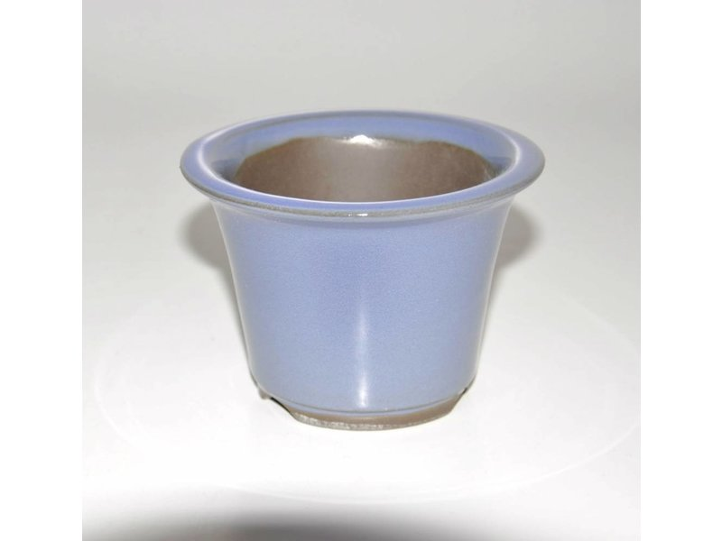 Bonsai pot light blue 9,5 cm Seto Yaki