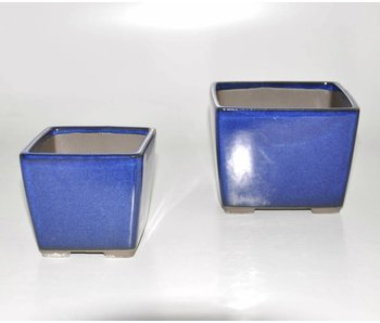 Set of two blue pots