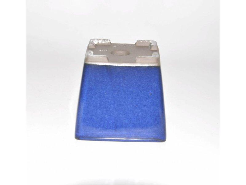 Bonsai pot blue 9 cm Seto Yaki