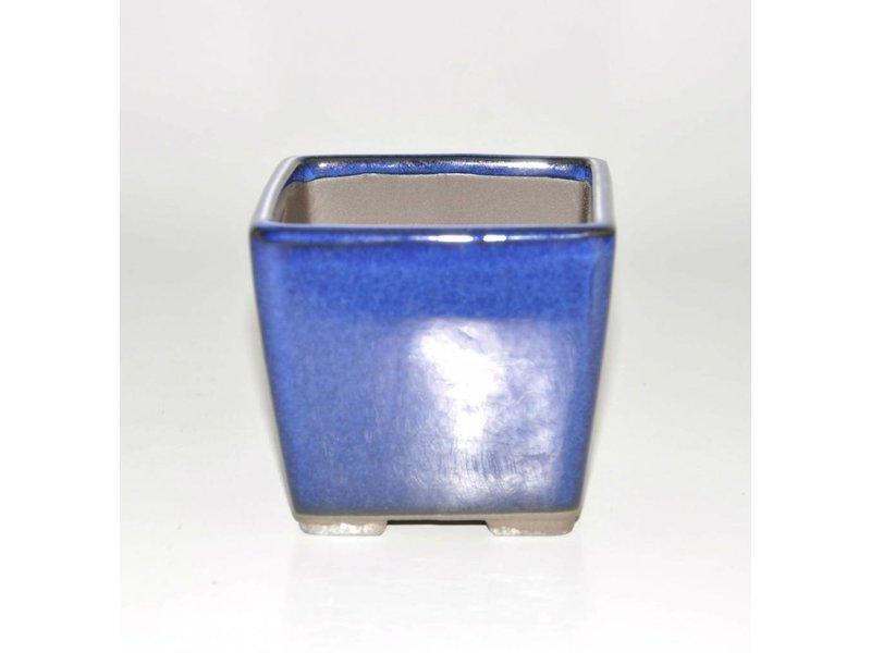 Bonsai pot blauwe 9 cm Seto Yaki
