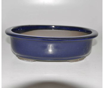 Bonsai pot blue 24 cm Seto Yaki