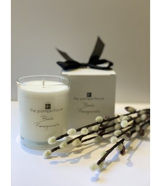 The Pamperhouse Black Pomegranate Candle