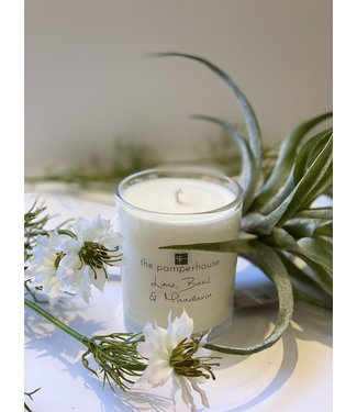 The Pamperhouse Lime Basil and Mandarin Candle