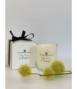 The Pamperhouse Pink Fizz and Grapefruit Candle