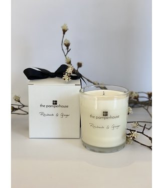 The Pamperhouse Rhubarb and Ginger Candle