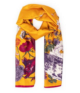 Powder Forest Satin print scarf