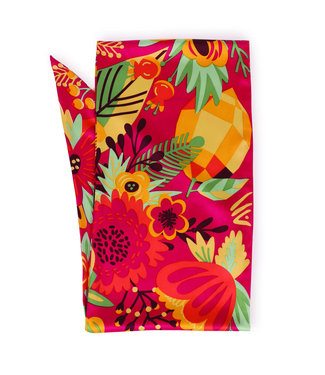 Powder Tropical Fruit Satin Neck scarf