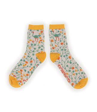 Powder Ostrich Bamboo Socks