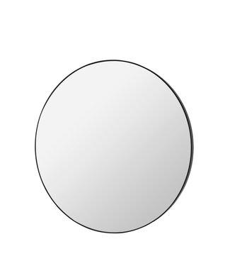 broste Black round mirror