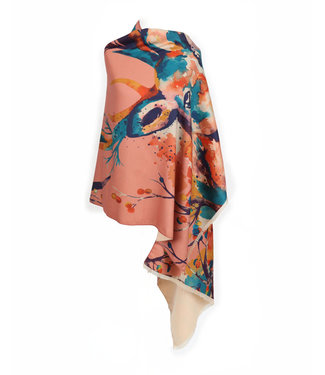 Powder Luxurious Watercolour Stag Print Scarf
