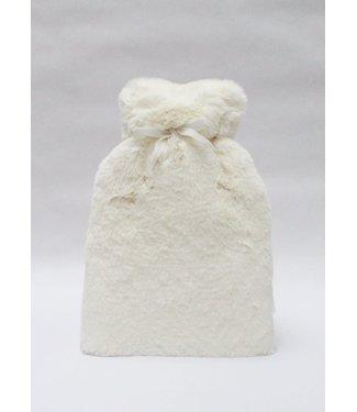 Chalk Faux Fur Teddy Hot Water Bottle