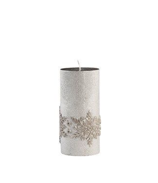 Lene Bjerre Large Silver Snowflake Candle