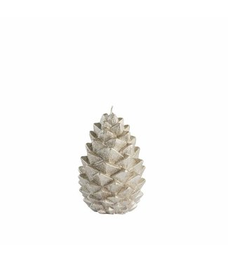 Lene Bjerre Large Silver Pinecone candle